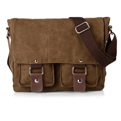 Casual Canvas Satchel Men Sling BagMens Bags<br>Casual Canvas Satchel Men Sling Bag<br><br>Closure Type: Zipper &amp; Hasp<br>Material: Canvas<br>Package Size(L x W x H): 28.00 x 11.00 x 24.00 cm / 11.02 x 4.33 x 9.45 inches<br>Package weight: 0.7400 kg<br>Packing List: 1 x Sling Bag<br>Product Size(L x W x H): 27.00 x 10.00 x 23.00 cm / 10.63 x 3.94 x 9.06 inches<br>Product weight: 0.6000 kg<br>Style: Casual<br>Type: Shoulder bag