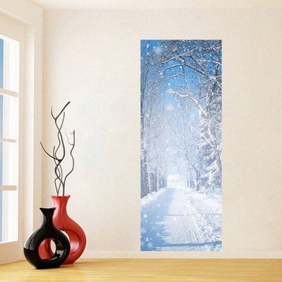 DM022 3D Self Adhesive Winter Snow Door Sticker
