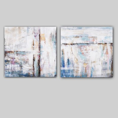 Canvas Oil Painting Abstract Blue Hand Painted Decoration