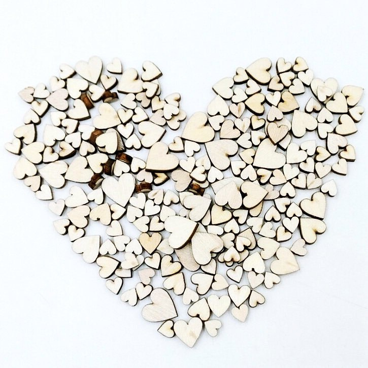Buy Heart-shaped Natural Wood Button WOOD