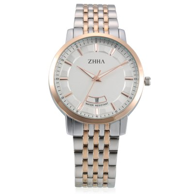 ZHHA ZW - 058 Quartz WatchMens Watches<br>ZHHA ZW - 058 Quartz Watch<br><br>Band material: Stainless Steel<br>Band size: 18.5 x 2cm<br>Brand: ZHHA<br>Case material: Zinc Alloy<br>Clasp type: Butterfly clasp<br>Dial size: 4 x 4 x 0.7cm<br>Display type: Analog<br>Movement type: Quartz watch<br>Package Contents: 1 x ZW - 058 Watch<br>Package size (L x W x H): 20.50 x 6.00 x 2.70 cm / 8.07 x 2.36 x 1.06 inches<br>Package weight: 0.1380 kg<br>Product size (L x W x H): 18.50 x 4.00 x 0.70 cm / 7.28 x 1.57 x 0.28 inches<br>Product weight: 0.1063 kg<br>Shape of the dial: Round<br>Watch mirror: Mineral glass<br>Watch style: Fashion, Business<br>Watches categories: Men<br>Water resistance : Life water resistant<br>Wearable length: 18.5cm