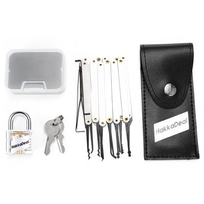 HakkaDeal Lock Pick Practice Set with Transparent Padlock