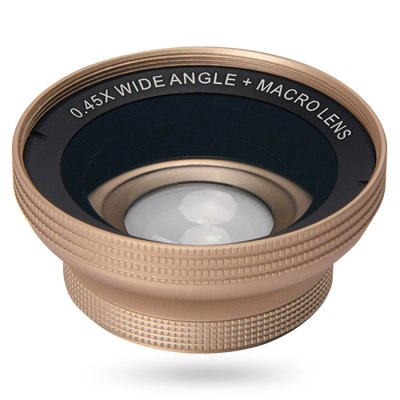 Topaul MSPG006 0.45X Super Wide Angle Macro Phone LensiPhone Lenses<br>Topaul MSPG006 0.45X Super Wide Angle Macro Phone Lens<br><br>Brand: topaul<br>Lens type: Macro Lens,Wide-Angle-Lens<br>Magnification ?Wide Angle Lens ): 0.45X<br>Material: Metal, Optical glass<br>Package Contents: 1 x Wide Angle Macro Lens, 1 x Clip, 1 x Cloth, 1 x Storage Bag, 1 x Hook<br>Package size (L x W x H): 10.50 x 6.70 x 10.80 cm / 4.13 x 2.64 x 4.25 inches<br>Package weight: 0.1910 kg<br>Product size (L x W x H): 5.90 x 5.90 x 2.50 cm / 2.32 x 2.32 x 0.98 inches<br>Product weight: 0.0550 kg
