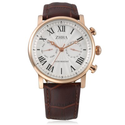 ZHHA ZW - S014 Quartz Men WatchMens Watches<br>ZHHA ZW - S014 Quartz Men Watch<br><br>Band material: Genuine Leather<br>Band size: 21 x 1.8cm<br>Case material: Alloy<br>Clasp type: Pin buckle<br>Dial size: 4 x 4 x 1cm<br>Movement type: Quartz watch<br>Package Contents: 1 x Watch<br>Package size (L x W x H): 22.00 x 5.00 x 2.00 cm / 8.66 x 1.97 x 0.79 inches<br>Package weight: 0.0956 kg<br>Product size (L x W x H): 21.00 x 4.00 x 1.00 cm / 8.27 x 1.57 x 0.39 inches<br>Product weight: 0.0556 kg<br>Shape of the dial: Round<br>Watch style: Cool, Casual<br>Watches categories: Men<br>Water resistance : Life water resistant<br>Wearable length: 18.5 - 23cm