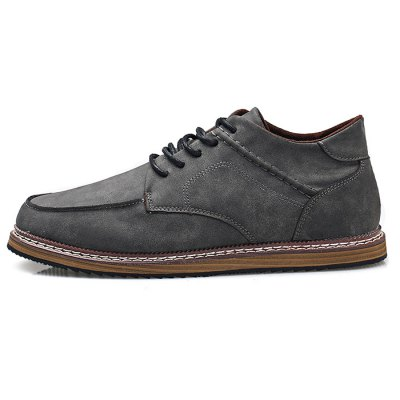 Vintage Medium Top Casual Leather Shoes for MenCasual Shoes<br>Vintage Medium Top Casual Leather Shoes for Men<br><br>Closure Type: Lace-Up<br>Contents: 1 x Pair of Shoes<br>Materials: Rubber, Suede<br>Outsole Material: Rubber<br>Package Size ( L x W x H ): 33.00 x 22.00 x 11.00 cm / 12.99 x 8.66 x 4.33 inches<br>Package Weights: 0.77kg<br>Seasons: Autumn,Spring<br>Type: Casual Shoes<br>Upper Material: Leather