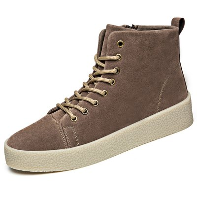 Ourdoor High Top TPR Soles for MenCasual Shoes<br>Ourdoor High Top TPR Soles for Men<br><br>Closure Type: Lace-Up<br>Contents: 1 x Pair of Shoes<br>Materials: Suede, TPR<br>Outsole Material: TPR<br>Package Size ( L x W x H ): 33.00 x 22.00 x 11.00 cm / 12.99 x 8.66 x 4.33 inches<br>Package Weights: 0.87kg<br>Type: Casual Shoes<br>Upper Material: Suede