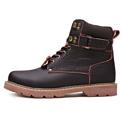 Plus Size High Top Martin Boots for MenMens Boots<br>Plus Size High Top Martin Boots for Men<br><br>Closure Type: Lace-Up<br>Contents: 1 x Pair of Boots<br>Materials: Genuine Leather, Rubber<br>Occasion: Casual<br>Outsole Material: Rubber<br>Package Size ( L x W x H ): 33.50 x 22.00 x 18.00 cm / 13.19 x 8.66 x 7.09 inches<br>Package Weights: 1.20kg<br>Seasons: Autumn,Spring<br>Style: Leisure, Casual<br>Type: Boots<br>Upper Material: Leather