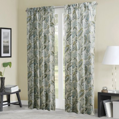Ink-jet Printing Vivid Leaves Pattern Curtains 52 x 96 inch