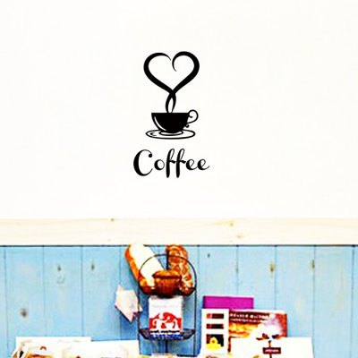 Coffee Cup DIY Home Decor Wallpaper Wall Sticker MuralWall Stickers<br>Coffee Cup DIY Home Decor Wallpaper Wall Sticker Mural<br><br>Art Style: Plane Wall Stickers<br>Color Scheme: Black<br>Functions: Decorative Wall Stickers<br>Hang In/Stick On: Bedrooms,Cafes,Living Rooms<br>Material: Vinyl(PVC), Self-adhesive Plastic<br>Package Contents: 1 x Sticker<br>Package size (L x W x H): 40.00 x 4.00 x 1.00 cm / 15.75 x 1.57 x 0.39 inches<br>Package weight: 0.0800 kg<br>Product size (L x W x H): 40.00 x 60.00 x 1.00 cm / 15.75 x 23.62 x 0.39 inches<br>Product weight: 0.0400 kg