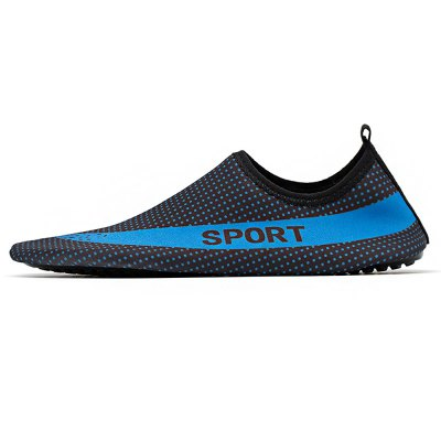 Breathable High Elasticity Beach Shoes for MenCasual Shoes<br>Breathable High Elasticity Beach Shoes for Men<br><br>Contents: 1 x Pair of Shoes<br>Materials: Fabric, TPU<br>Occasion: Beach, Casual<br>Outsole Material: TPU<br>Package Size ( L x W x H ): 33.00 x 22.00 x 11.00 cm / 12.99 x 8.66 x 4.33 inches<br>Package Weights: 0.37kg<br>Seasons: Summer<br>Style: Comfortable, Casual<br>Type: Casual Shoes<br>Upper Material: Cloth