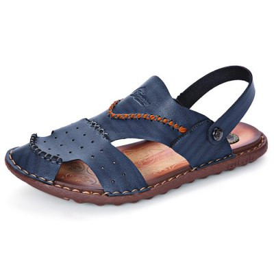 Durable Outdoor Hollow Out Sandals for MenMens Sandals<br>Durable Outdoor Hollow Out Sandals for Men<br><br>Contents: 1 x Pair of Shoes<br>Decoration: Hollow Out<br>Materials: Leather, Rubber<br>Package Size ( L x W x H ): 33.00 x 22.00 x 11.00 cm / 12.99 x 8.66 x 4.33 inches<br>Package Weights: 0.65kg<br>Seasons: Summer<br>Type: Sandals<br>Upper Material: Leather