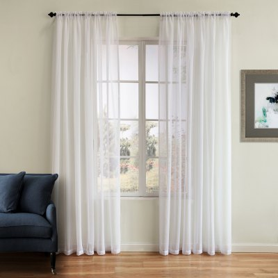 Polyester Solid Color Two Panels Window Gauzes 52W x 84L