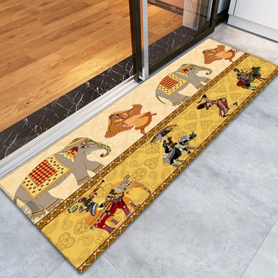 Indian Style Area Rug 16W x 47L inchCushion<br>Indian Style Area Rug 16W x 47L inch<br><br>Category: Carpet<br>For: All<br>Material: Polyester fibre, PVC<br>Occasion: Living Room, Kitchen Room, Dining Room, Bedroom<br>Package Contents: 1 x Area Rug<br>Package size (L x W x H): 43.00 x 15.00 x 15.00 cm / 16.93 x 5.91 x 5.91 inches<br>Package weight: 0.3400 kg<br>Product weight: 0.3000 kg<br>Type: Decoration, Eco-friendly