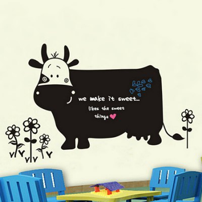 Cow Blackboard Removable Waterproof Wall StickerWall Stickers<br>Cow Blackboard Removable Waterproof Wall Sticker<br><br>Art Style: Plane Wall Stickers<br>Color Scheme: Black<br>Functions: Decorative Wall Stickers<br>Hang In/Stick On: Bedrooms,Living Rooms<br>Material: Vinyl(PVC), Self-adhesive Plastic<br>Package Contents: 1 x Sticker<br>Package size (L x W x H): 61.00 x 5.00 x 5.00 cm / 24.02 x 1.97 x 1.97 inches<br>Package weight: 0.3700 kg<br>Product size (L x W x H): 60.00 x 90.00 x 2.00 cm / 23.62 x 35.43 x 0.79 inches<br>Product weight: 0.3200 kg