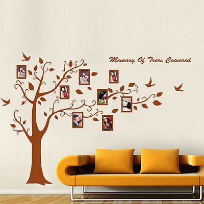 Photo Tree DIY Home Decor Wallpaper Wall Sticker MuralWall Stickers<br>Photo Tree DIY Home Decor Wallpaper Wall Sticker Mural<br><br>Art Style: Plane Wall Stickers<br>Functions: Decorative Wall Stickers<br>Hang In/Stick On: Bedrooms,Living Rooms<br>Material: Self-adhesive Plastic, Vinyl(PVC)<br>Package Contents: 1 x Sticker<br>Package size (L x W x H): 62.00 x 5.00 x 5.00 cm / 24.41 x 1.97 x 1.97 inches<br>Package weight: 0.3900 kg<br>Product size (L x W x H): 60.00 x 90.00 x 2.00 cm / 23.62 x 35.43 x 0.79 inches<br>Product weight: 0.3200 kg