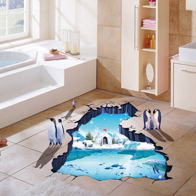 3D Polar Glacier Removable Wall Sticker