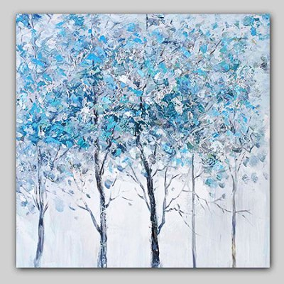 YHHP Hand Painted Abstract Grove Modern Canvas Oil Painting 220032701