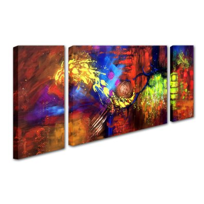 YHHP Canvas Oil Painting Colorful Abstract Hand Painted Home DecorOil Paintings<br>YHHP Canvas Oil Painting Colorful Abstract Hand Painted Home Decor<br><br>Brand: YHHP<br>Form: Three Panels<br>Package Quantity: 1 x Painting Set<br>Package size (L x W x H): 92.00 x 62.00 x 10.00 cm / 36.22 x 24.41 x 3.94 inches<br>Package weight: 3.1000 kg<br>Product size (L x W x H): 90.00 x 60.00 x 8.00 cm / 35.43 x 23.62 x 3.15 inches<br>Product weight: 2.2000 kg<br>Shape: Horizontal Panoramic<br>Theme: Abstract