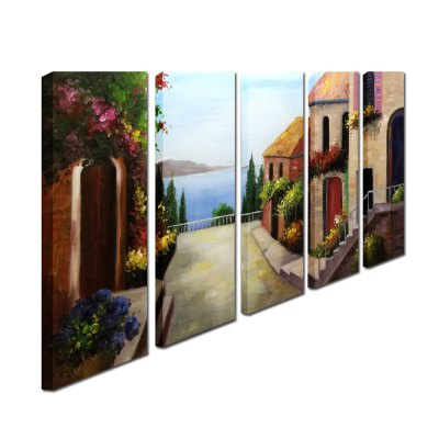 YHHP Canvas Oil Painting Abstract Seascape Hand Painted Home DecorOil Paintings<br>YHHP Canvas Oil Painting Abstract Seascape Hand Painted Home Decor<br><br>Brand: YHHP<br>Form: Five Panels<br>Package Quantity: 1 x Painting Set<br>Package size (L x W x H): 77.00 x 27.00 x 25.00 cm / 30.31 x 10.63 x 9.84 inches<br>Package weight: 3.7000 kg<br>Product size (L x W x H): 75.00 x 25.00 x 20.00 cm / 29.53 x 9.84 x 7.87 inches<br>Product weight: 3.1000 kg<br>Shape: Horizontal Panoramic<br>Theme: Abstract Landscape