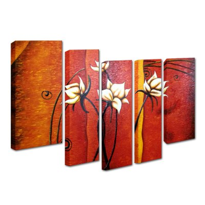 YHHP Canvas Oil Painting Flower Hand PaintedOil Paintings<br>YHHP Canvas Oil Painting Flower Hand Painted<br><br>Brand: YHHP<br>Form: Five Panels<br>Package Quantity: 1 x Oil Painting Set<br>Package size (L x W x H): 72.00 x 62.00 x 20.00 cm / 28.35 x 24.41 x 7.87 inches<br>Package weight: 3.6000 kg<br>Product size (L x W x H): 70.00 x 60.00 x 16.00 cm / 27.56 x 23.62 x 6.3 inches<br>Product weight: 3.0000 kg<br>Shape: Horizontal Panoramic<br>Theme: Flower / Plant