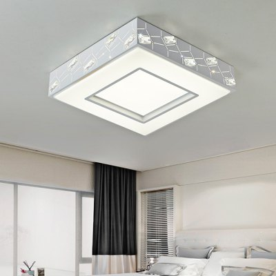 Brelong Square Crystal LED Ceiling Light 180 - 240VFlush Ceiling Lights<br>Brelong Square Crystal LED Ceiling Light 180 - 240V<br><br>Brand: BRELONG<br>Features: Square Shape, Remote-Controlled, Dimmable<br>Illumination Field: 15 - 20sqm<br>LED Number : 72<br>Luminous Flux: 3300lm<br>Optional Light Color: Warm White + White<br>Package Contents: 1 x Ceiling Light, 1 x Remote Controller<br>Package size (L x W x H): 55.00 x 55.00 x 15.00 cm / 21.65 x 21.65 x 5.91 inches<br>Package weight: 4.4500 kg<br>Product size (L x W x H): 48.00 x 48.00 x 10.00 cm / 18.9 x 18.9 x 3.94 inches<br>Product weight: 3.9000 kg<br>Sheathing Material: Crystal, PVC<br>Type: Ceiling Lights<br>Voltage (V): 180-240V<br>Wattage (W): 36W<br>Wavelength / CCT: 3000-6500K