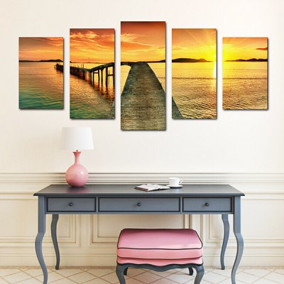 The Afloat Sunset Dock Wall Sticker