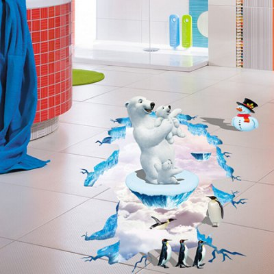 3D Penguin Decals Wall Sticker for Kids Room