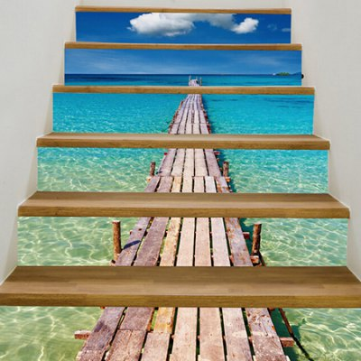 Beach Pier Landscape 3D Staircase Sticker Decoration PVCWall Stickers<br>Beach Pier Landscape 3D Staircase Sticker Decoration PVC<br><br>Art Style: Plane Wall Stickers<br>Functions: Decorative Wall Stickers<br>Hang In/Stick On: Living Rooms<br>Material: Self-adhesive Plastic, Vinyl(PVC)<br>Package Contents: 1 x Sticker<br>Package size (L x W x H): 20.00 x 5.00 x 5.00 cm / 7.87 x 1.97 x 1.97 inches<br>Package weight: 0.3200 kg<br>Product size (L x W x H): 18.00 x 100.00 x 1.00 cm / 7.09 x 39.37 x 0.39 inches<br>Product weight: 0.2600 kg
