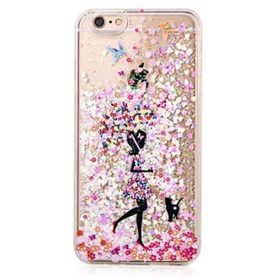 Painting Girl Theme Soft Case for iPhone 6 / 6S