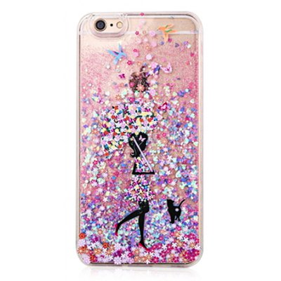Glitter Powder and Pretty Girl Phone Cover for iPhone 6 / 6S