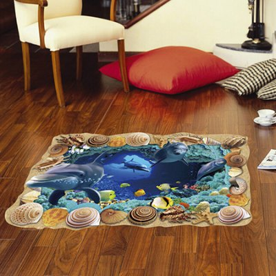Underwater Wold 3D Colorful Mural Wall Sticker