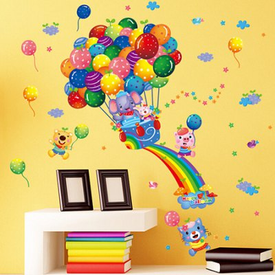 DIY Fair Balloon Removable Wall StickerWall Stickers<br>DIY Fair Balloon Removable Wall Sticker<br><br>Art Style: Plane Wall Stickers<br>Functions: Decorative Wall Stickers<br>Hang In/Stick On: Bedrooms,Kids Room,Living Rooms<br>Material: Self-adhesive Plastic, Vinyl(PVC)<br>Package Contents: 1 x Sticker<br>Package size (L x W x H): 61.00 x 5.00 x 5.00 cm / 24.02 x 1.97 x 1.97 inches<br>Package weight: 0.2100 kg<br>Product size (L x W x H): 60.00 x 90.00 x 1.00 cm / 23.62 x 35.43 x 0.39 inches<br>Product weight: 0.1600 kg