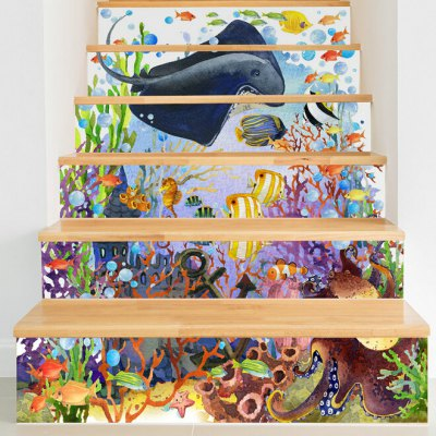 Sea World Style Stair StickerWall Stickers<br>Sea World Style Stair Sticker<br><br>Hang In/Stick On: Stair<br>Material: Vinyl(PVC)<br>Package Contents: 6 x Stair Stickers<br>Package size (L x W x H): 20.00 x 3.40 x 3.40 cm / 7.87 x 1.34 x 1.34 inches<br>Package weight: 0.3800 kg<br>Product size (L x W x H): 18.00 x 100.00 x 1.00 cm / 7.09 x 39.37 x 0.39 inches<br>Product weight: 0.3600 kg