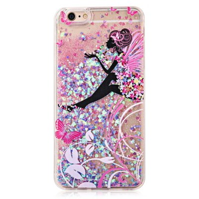 Absorbing Glitter Powder Girl Phone Cover for iPhone 6 Plus / 6S Plus