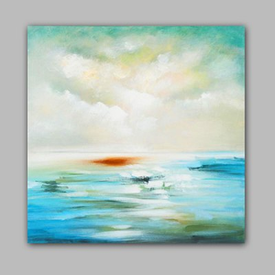 Hand Painted Abstract Scenery Canvas Oil Painting Wall Art