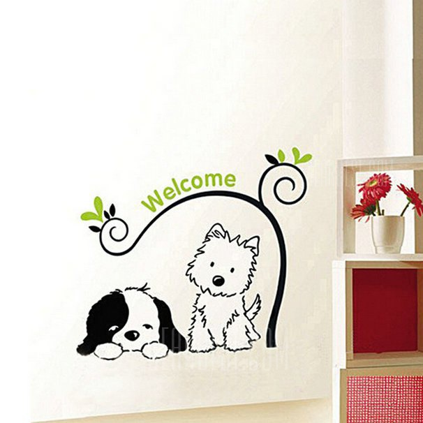 Buy Lovely Dog Style Wall Sticker COLORMIX