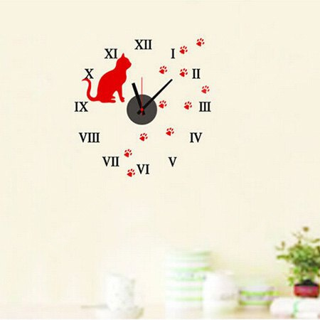 Buy Clock Removable DIY Home Decor Wallpaper Wall Sticker COLORMIX