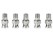 5PCS BNC Male to F Female Connector