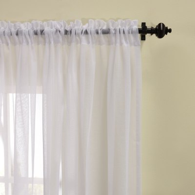 Decorative Sheer Curtain Two Panels 42W x 63L inchWindow Treatments<br>Decorative Sheer Curtain Two Panels 42W x 63L inch<br><br>Category: Curtain<br>For: All<br>Material: Polyester fibre<br>Occasion: Office, Living Room, Bedroom, Bar<br>Package Contents: 2 x Sheer Curtain Panel<br>Package size (L x W x H): 50.00 x 40.00 x 2.00 cm / 19.69 x 15.75 x 0.79 inches<br>Package weight: 0.4300 kg<br>Product weight: 0.3000 kg<br>Type: Decoration, Eco-friendly