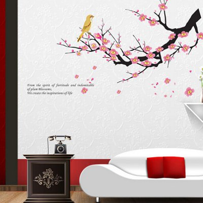 PVC Removable Wall Sticker Beautiful Plum BlossomsWall Stickers<br>PVC Removable Wall Sticker Beautiful Plum Blossoms<br><br>Art Style: Glass Stickers, Plane Wall Stickers<br>Functions: Decorative Wall Stickers<br>Hang In/Stick On: Bathroom,Bedrooms,Cafes,Hotels,Kids Room,Living Rooms,Lobby,Nurseries,Offices,Toilet<br>Material: Vinyl(PVC)<br>Package Contents: 1 x Wall Sticker<br>Package size (L x W x H): 45.00 x 4.00 x 1.00 cm / 17.72 x 1.57 x 0.39 inches<br>Package weight: 0.1100 kg<br>Product weight: 0.0800 kg