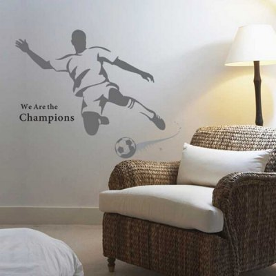 PVC Removable Wall Sticker Great Football Player