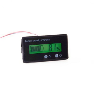 GY - 6S LCD Acid Lead Lithium Battery Capacity Monitor