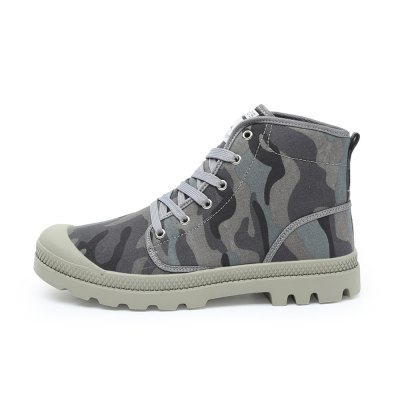 Men Stylish High Top Camo Canvas / Skateboarding ShoesCasual Shoes<br>Men Stylish High Top Camo Canvas / Skateboarding Shoes<br><br>Closure Type: Lace-Up, Lace-Up<br>Features: Anti-slip<br>Gender: Men<br>Package Contents: 1 x Pair of Shoes, 1 x Pair of Shoes<br>Package size: 33.00 x 24.00 x 13.00 cm / 12.99 x 9.45 x 5.12 inches, 33.00 x 24.00 x 13.00 cm / 12.99 x 9.45 x 5.12 inches<br>Package weight: 1.1200 kg, 1.1200 kg<br>Product weight: 0.9000 kg, 0.9000 kg<br>Season: Spring, Summer, Spring, Autumn, Summer<br>Sole Material: Rubber, Rubber<br>Type: Skateboarding Shoes<br>Upper Height: High, High