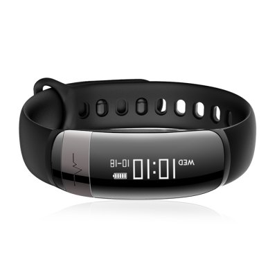 V10 Heart Rate SmartbandSmart Watches<br>V10 Heart Rate Smartband<br><br>Alert type: Vibration<br>Band material: TPU<br>Band size: 23 x 1.5 cm<br>Battery  Capacity: 90mAh<br>Bluetooth calling: Callers name display,Phone call reminder<br>Bluetooth Version: Bluetooth 4.0<br>Case material: ABS,PC<br>Charging Time: About 1.5 Hours<br>Compatability: Android 4.4 or above and iOS 8.0 or above<br>Compatible OS: Android, IOS<br>Dial size: 4.5 x 1.8 x 1.4 cm<br>Health tracker: Blood Pressure,Heart rate monitor,Pedometer,Sleep monitor<br>IP rating: IP67<br>Messaging: Message reminder,Message sending<br>Notification type: Facebook, WhatsApp, Twitter, Skype, QQ, Wechat<br>Operating mode: Touch Screen<br>Other Function: Alarm<br>Package Contents: 1 x Smartband, 1 x English-Chinese Manual<br>Package size (L x W x H): 10.50 x 9.00 x 3.00 cm / 4.13 x 3.54 x 1.18 inches<br>Package weight: 0.0900 kg<br>People: Female table,Male table<br>Product size (L x W x H): 23.00 x 1.80 x 1.40 cm / 9.06 x 0.71 x 0.55 inches<br>Product weight: 0.0200 kg<br>Remote control function: Remote Camera<br>Screen: OLED<br>Screen size: 0.87 inch<br>Shape of the dial: Oval<br>Standby time: 7 - 12 days<br>Type of battery: Lithium-ion polymer battery<br>Waterproof: Yes