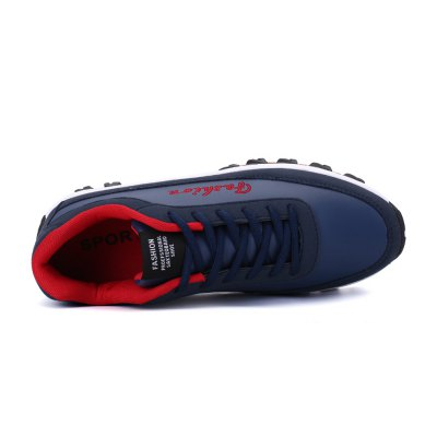 Thick Soles Leisure Shoes for MenMen's Sneakers<br>Thick Soles Leisure Shoes for Men<br><br>Closure Type: Lace-Up<br>Contents: 1 x Pair of Shoes<br>Materials: Fabric, Leather, Rubber<br>Occasion: Casual<br>Outsole Material: Rubber<br>Package Size ( L x W x H ): 33.00 x 22.00 x 11.00 cm / 12.99 x 8.66 x 4.33 inches<br>Package Weights: 0.87kg<br>Seasons: Autumn,Spring,Summer<br>Style: Leisure, Casual<br>Type: Casual Shoes<br>Upper Material: Cloth,Leather