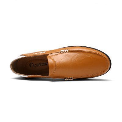 Slip-on Business Casual Leather Shoes for MenMen's Oxford<br>Slip-on Business Casual Leather Shoes for Men<br><br>Closure Type: Slip-On<br>Contents: 1 x Pair of Shoes<br>Materials: Rubber, Genuine Leather<br>Outsole Material: Rubber<br>Package Size ( L x W x H ): 33.00 x 24.00 x 13.00 cm / 12.99 x 9.45 x 5.12 inches<br>Package Weights: 0.92kg<br>Style: Business, Casual<br>Type: Casual Shoes<br>Upper Material: Leather