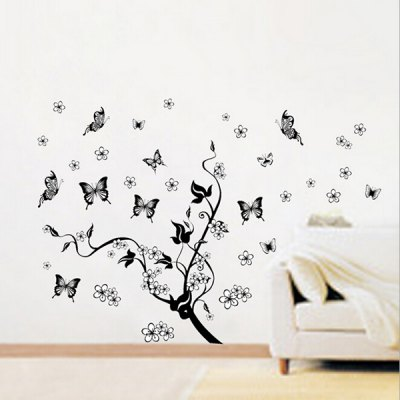 Butterfly Removable Waterproof Wall StickerWall Stickers<br>Butterfly Removable Waterproof Wall Sticker<br><br>Functions: Decorative Wall Stickers<br>Hang In/Stick On: Bedrooms,Living Rooms<br>Material: Self-adhesive Plastic, Vinyl(PVC)<br>Package Contents: 1 x Sticker<br>Package size (L x W x H): 46.00 x 4.00 x 4.00 cm / 18.11 x 1.57 x 1.57 inches<br>Package weight: 0.0800 kg<br>Product size (L x W x H): 45.00 x 60.00 x 1.00 cm / 17.72 x 23.62 x 0.39 inches<br>Product weight: 0.0800 kg