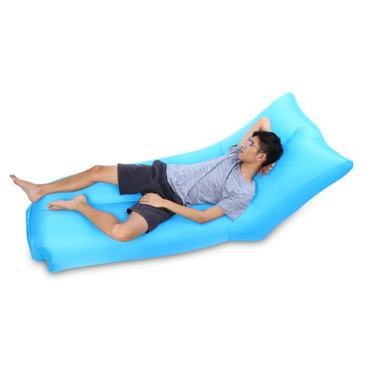 Portable 200kg Loading Inflatable Sofa Bed with Back Pillow  inflatable sofa bean bag sofa basketball sofa living room furniture lazy sofa home furniture bedroom furniture inflatable stool