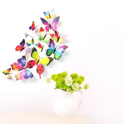 Creative Home Decor Magnetic Butterflies Wall StickerWall Stickers<br>Creative Home Decor Magnetic Butterflies Wall Sticker<br><br>Art Style: Plane Wall Stickers<br>Color Scheme: Multicolor<br>Hang In/Stick On: Bedrooms,Hotels,Living Rooms<br>Material: Vinyl(PVC)<br>Package Contents: 1 x Sticker<br>Package size (L x W x H): 15.00 x 10.00 x 1.00 cm / 5.91 x 3.94 x 0.39 inches<br>Package weight: 0.0270 kg<br>Product size (L x W x H): 10.00 x 5.00 x 0.20 cm / 3.94 x 1.97 x 0.08 inches<br>Product weight: 0.0200 kg