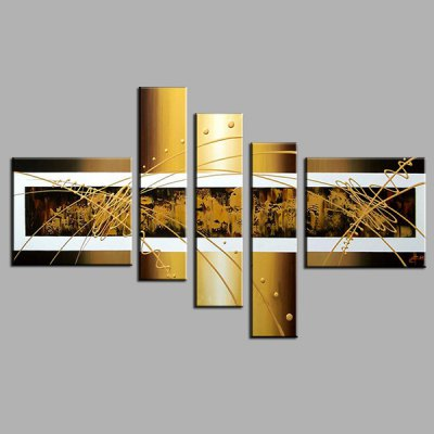 5PCS YHHP Canvas Oil Painting Abstract Hand PaintedOil Paintings<br>5PCS YHHP Canvas Oil Painting Abstract Hand Painted<br><br>Brand: YHHP<br>Form: Five Panels<br>Package Quantity: 1 x Painting Set<br>Package size (L x W x H): 77.00 x 42.00 x 20.00 cm / 30.31 x 16.54 x 7.87 inches<br>Package weight: 3.6000 kg<br>Product size (L x W x H): 75.00 x 40.00 x 16.00 cm / 29.53 x 15.75 x 6.3 inches<br>Product weight: 2.8000 kg<br>Shape: Horizontal Panoramic<br>Theme: Abstract